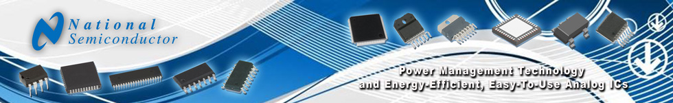 National Semiconductor - power management technology and energy-efficient, easy-to-use analog ICs