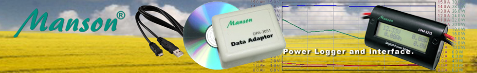 Manson Power logger and interface